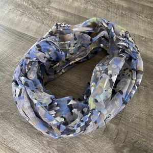 Juicy Couture Infinity Scarf Blue Silver Scarves